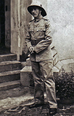 Lindsay in Hong Kong Volunteer Defense Corps uniform ca.1938